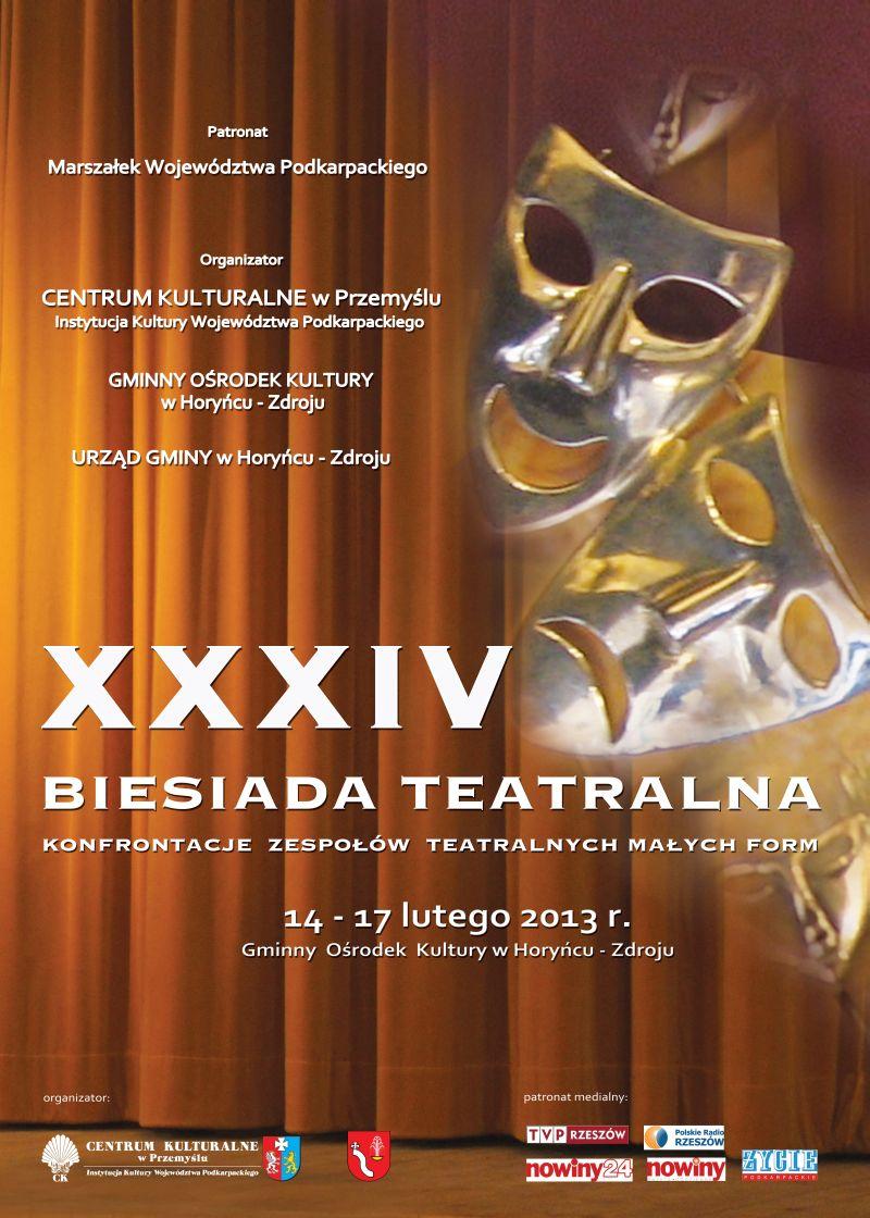XXXIV Biesiada Teatralna w HoryńcuZdroju - plakat