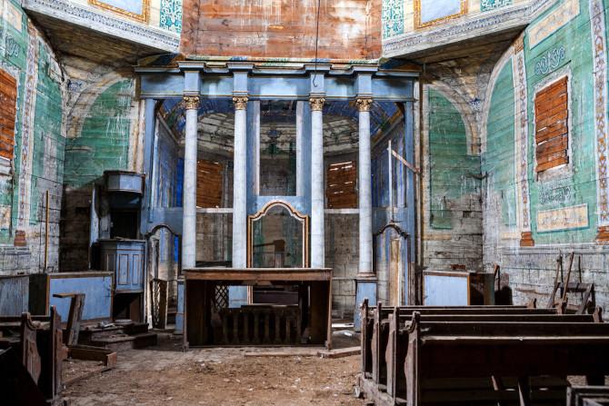 Wnętrze cerkwi w Cewkowie, fot. Tomasz Michalski.