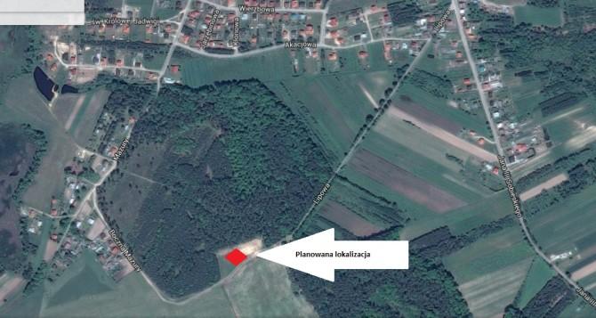 Planowana lokalizacja składowiska i przetwarzalni odpadów organicznych.