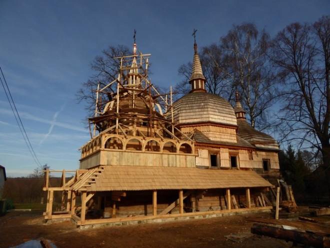 Cerkiew w Nowym Bruśnie w trakcie remontu, fot. facebook.com/cerkiewbrusno