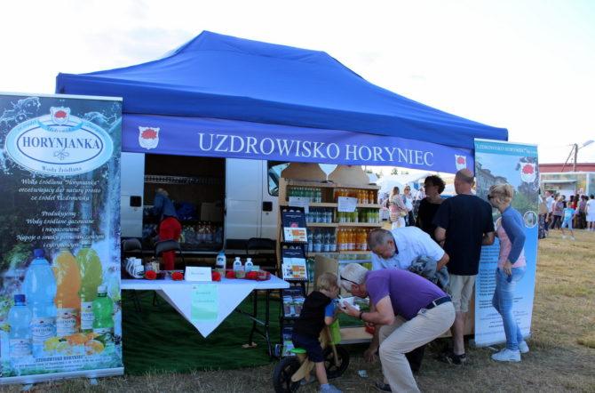 Fot. Stoisko Uzdrowiska Horyniec-Zdrój podczas Festiwalu Kultur i Kresowego Jadła.