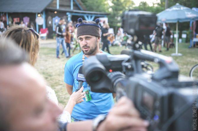 Fot. Marcin Piotrowski podczas Folkowiska 2016, Michał Szwerc.