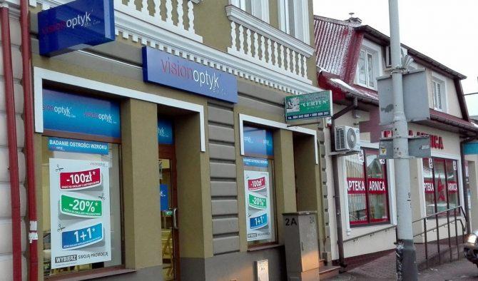 Salon VisionOptyk znajduje się przy ul. Kościuszki 14 w Lubaczowie.